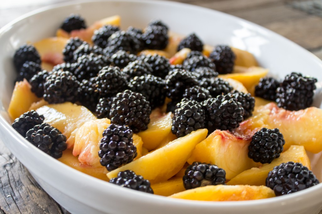 Peach & Blackberry Cake.1