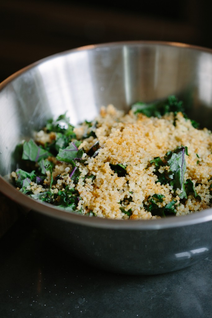 Kale & Crispy Quinoa with Creamy Lime Dressing-4