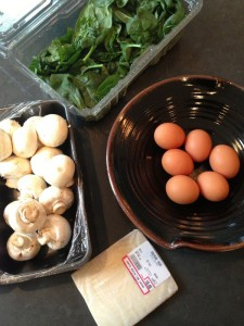 Mushroom Spinach Frittata Ingredients