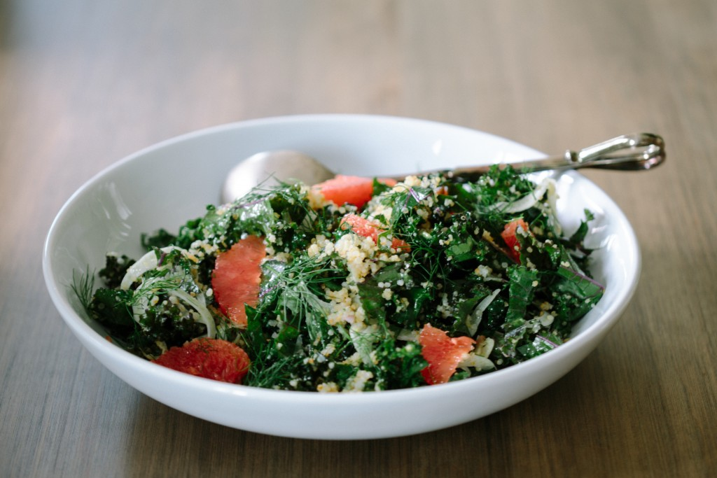 Kale & Crispy Quinoa with Creamy Lime Dressing-3